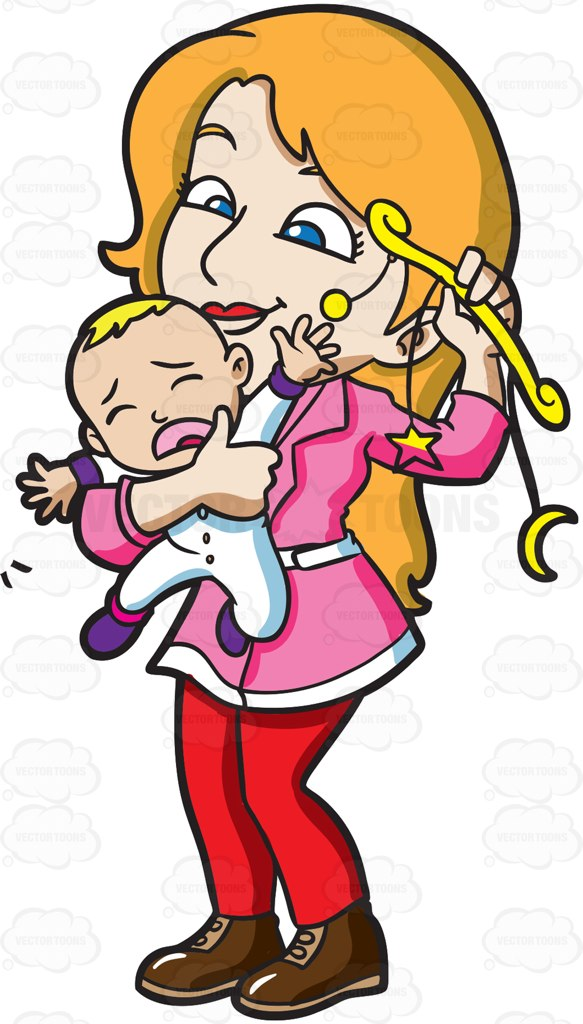 Mother And Baby Boy Clipart.