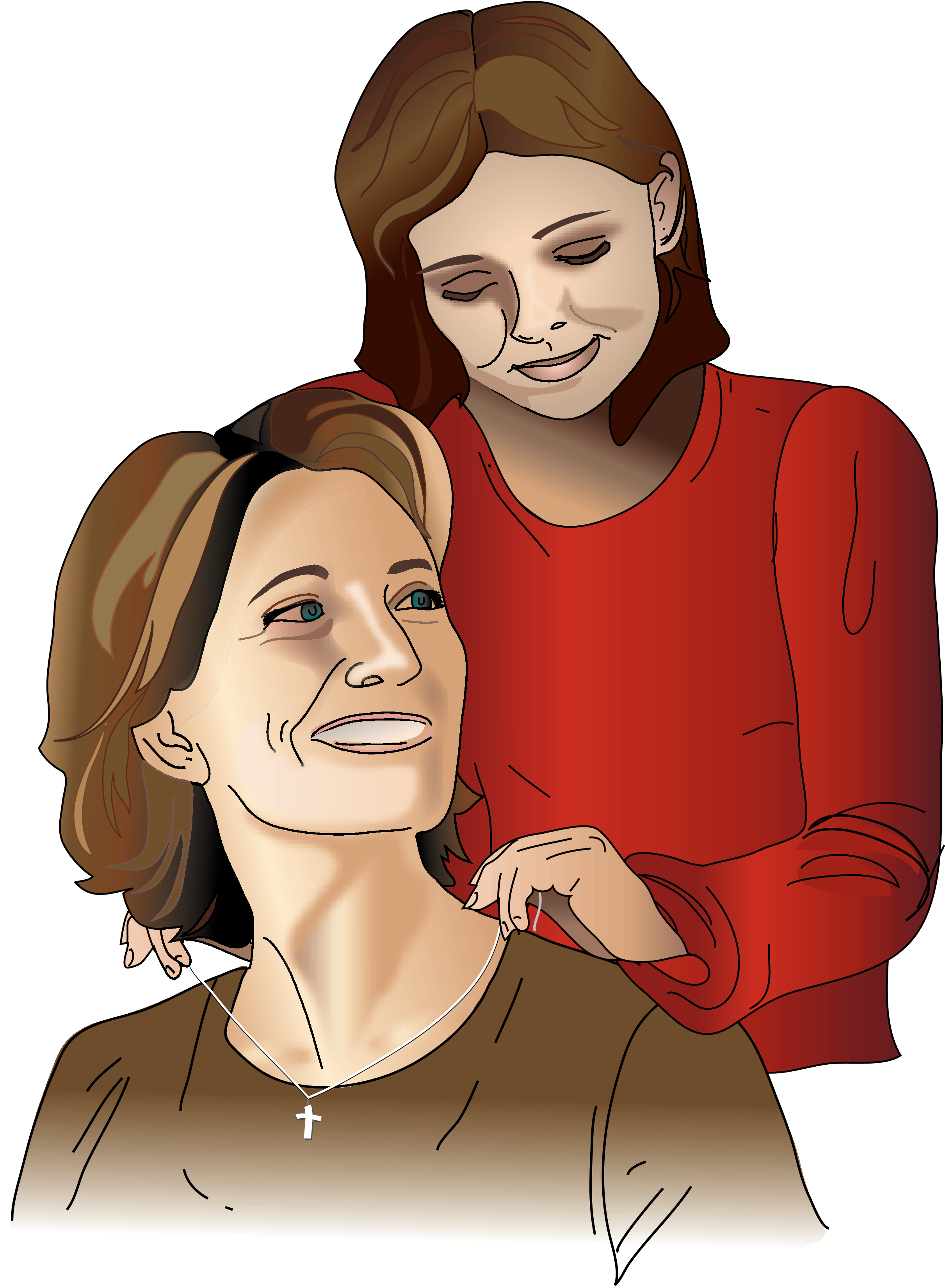 Mother clipart mother daughter relationship, Picture.