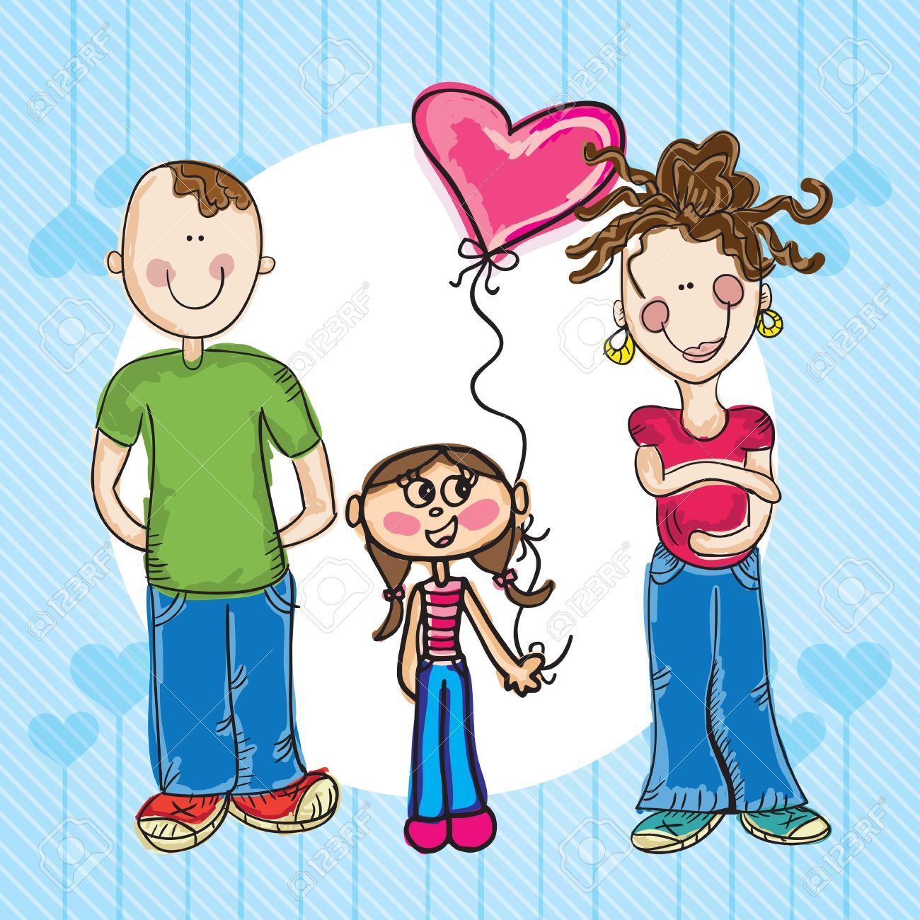 Mother Daughter Father Clipart Clipground