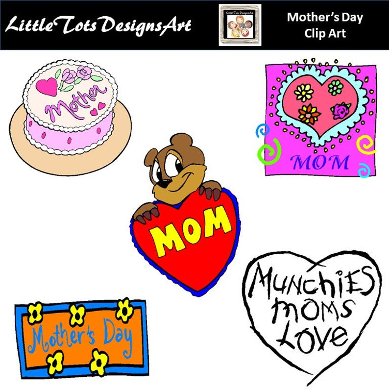 Mother's Day clipart, Mom Clipart, Mother Frame Labels, Mothers Day Clip  Art, Mother's Day Wording, PNG Images, Instant Download.