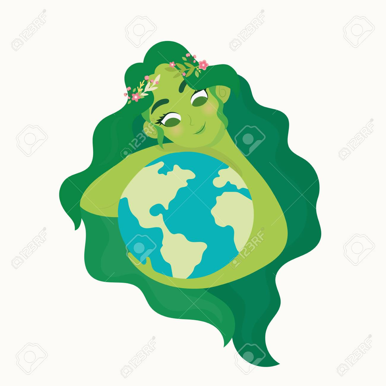 Care For Mother Earth Clipart.