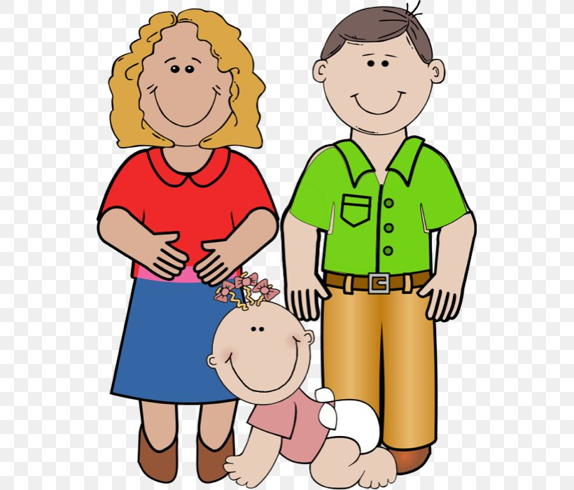 Father Mother Daughter Child Clip Art, PNG, 543x700px.