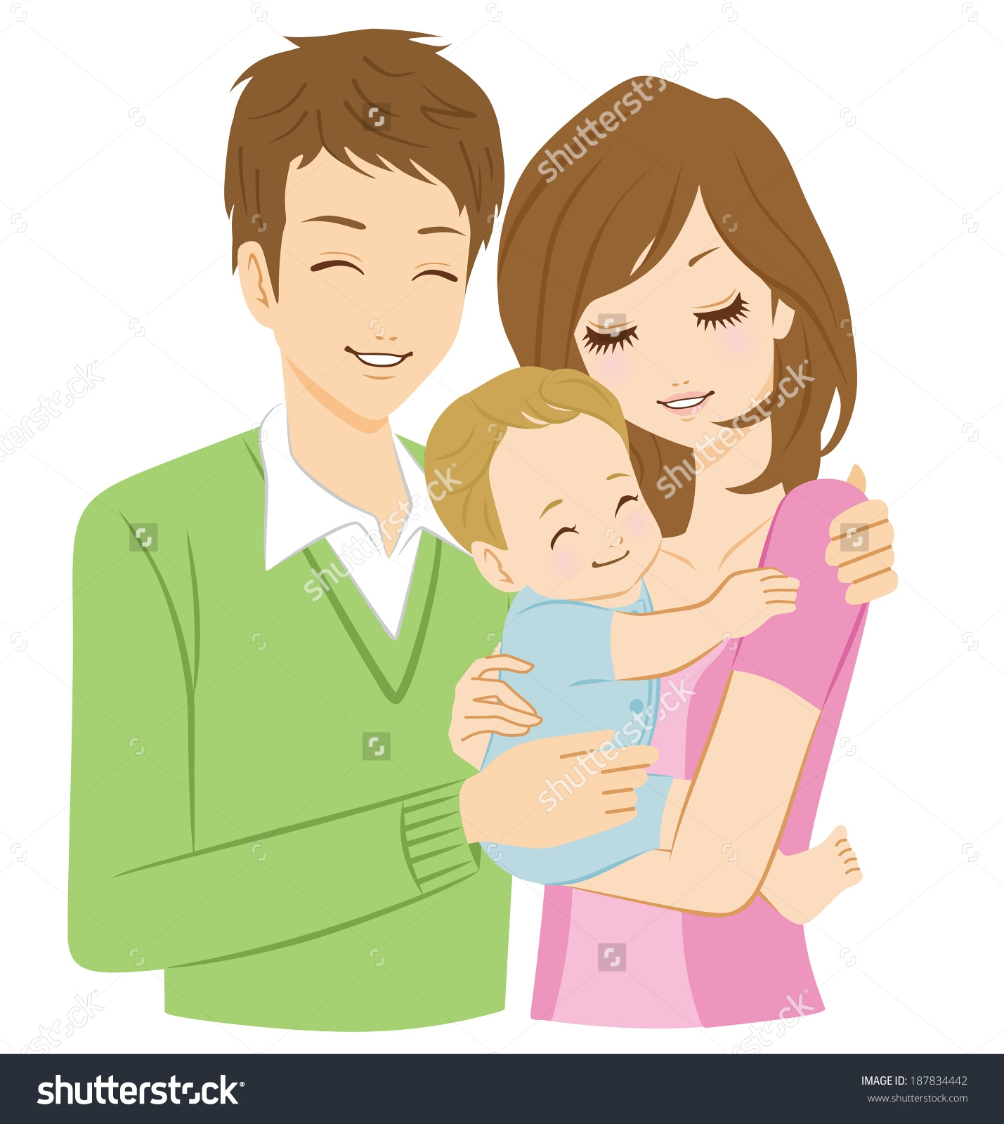 Father Mother And Baby Clipart.