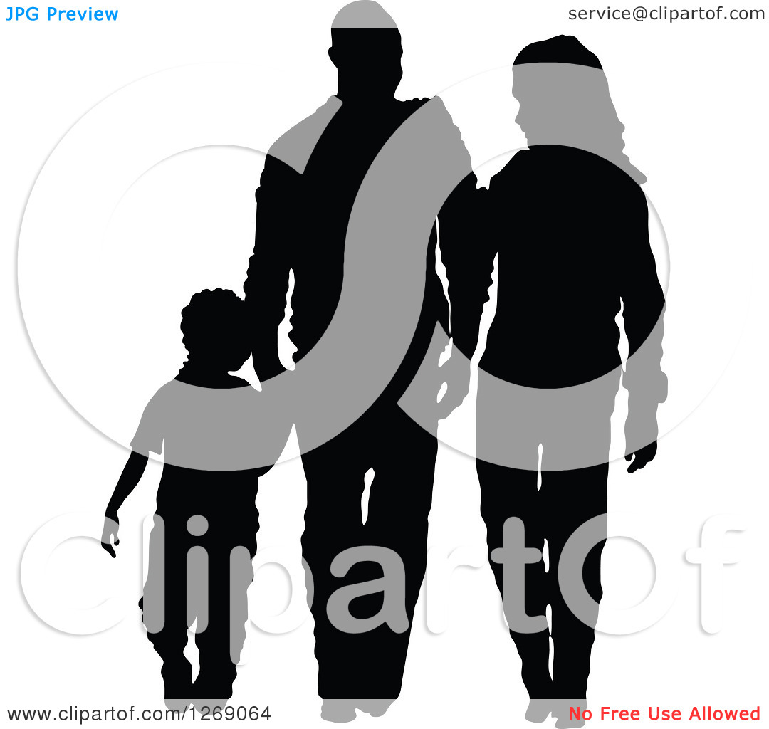 Mother And Son Clipart Silhouette.