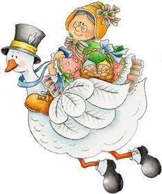 Mother goose clipart.