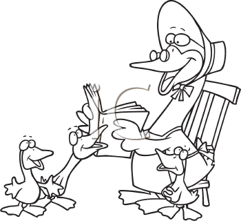 Mother goose day clipart.