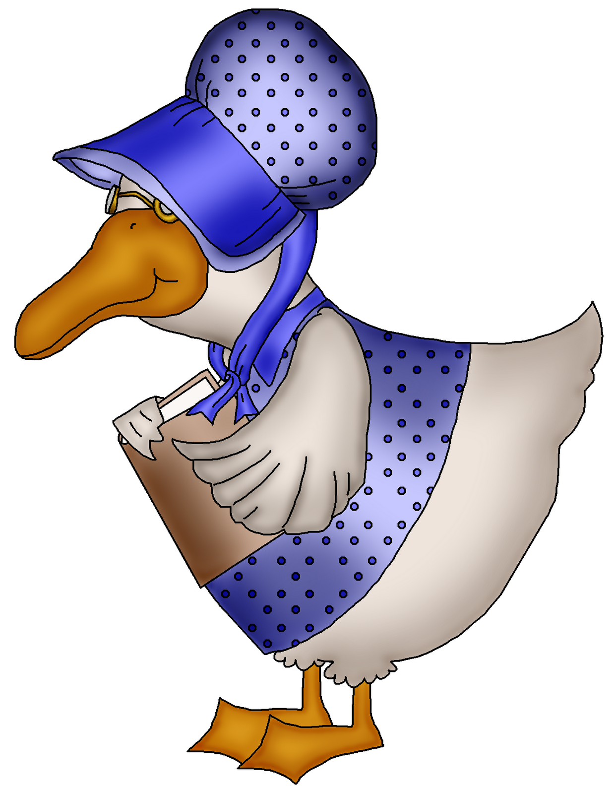 Mother Goose Clip Art free image.