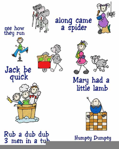 Free Clipart Mother Goose Nursery Rhymes.