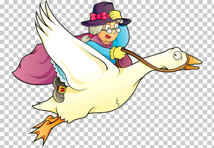 Mother Goose Child Nursery rhyme, goose PNG clipart.