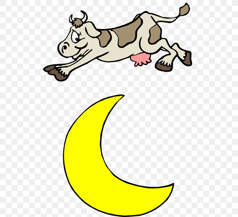 Hey Diddle Diddle Cattle Mother Goose Nursery Rhyme Clip Art.