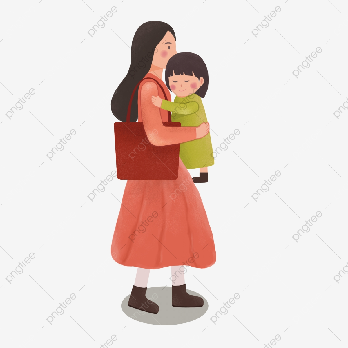 Mother Holding A Baby, Baby Clipart, Mom, Mother PNG.
