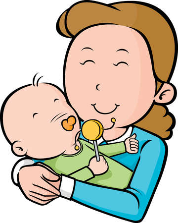 Free Mom And Baby Cartoon, Download Free Clip Art, Free Clip.