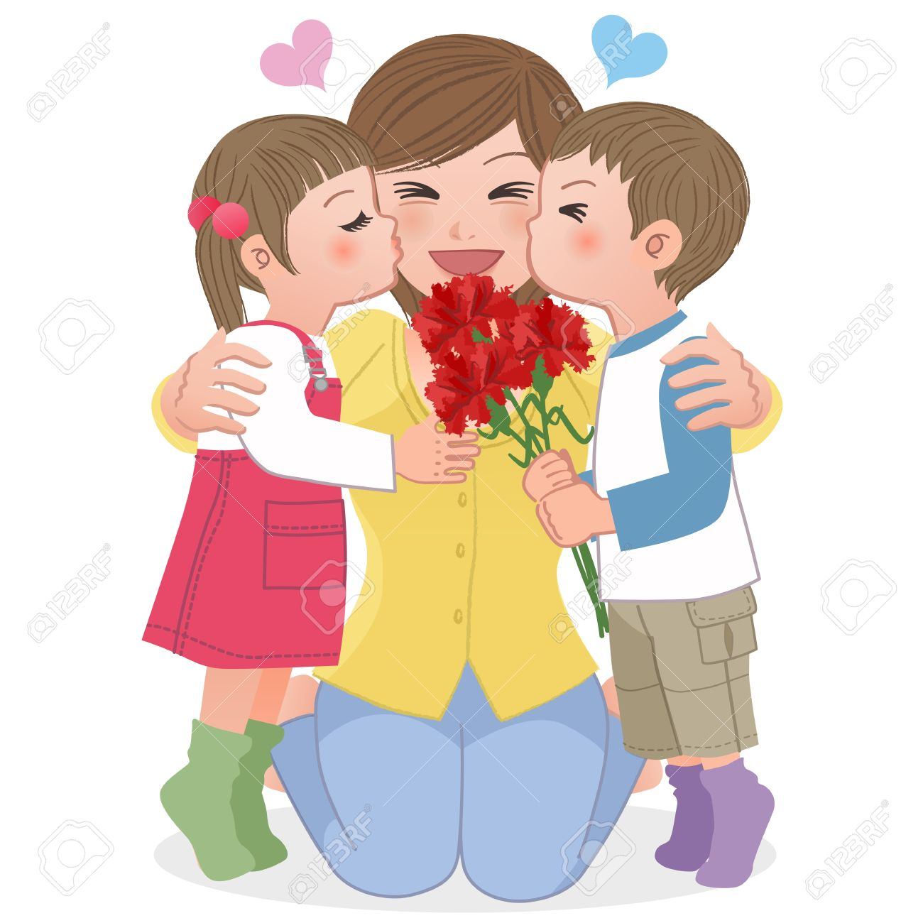 2,056 Mother And Child Hugging Stock Illustrations, Cliparts And.