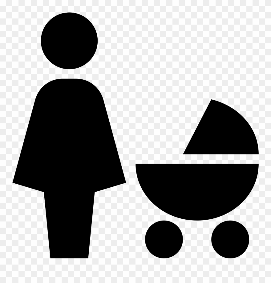 The Icon Shows A Mother Standing Next To Her Baby In.