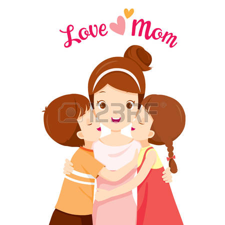 299 Mother Daughter Kiss Cliparts, Stock Vector And Royalty Free.