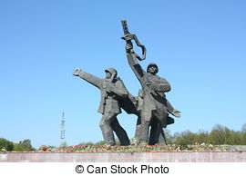 Stock Photo of Victory Memorial to Soviet Army and Mother.