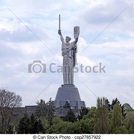 """Stock Photo of Monumental statue of the """"Mother Motherland"""", Kiev."""