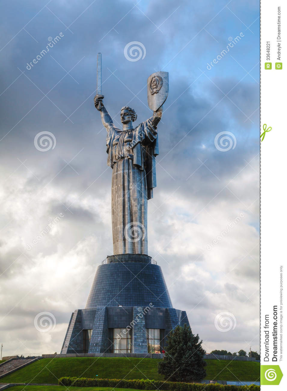 Mother Of The Motherland Monument In Kiev, Ukraine Stock Image.