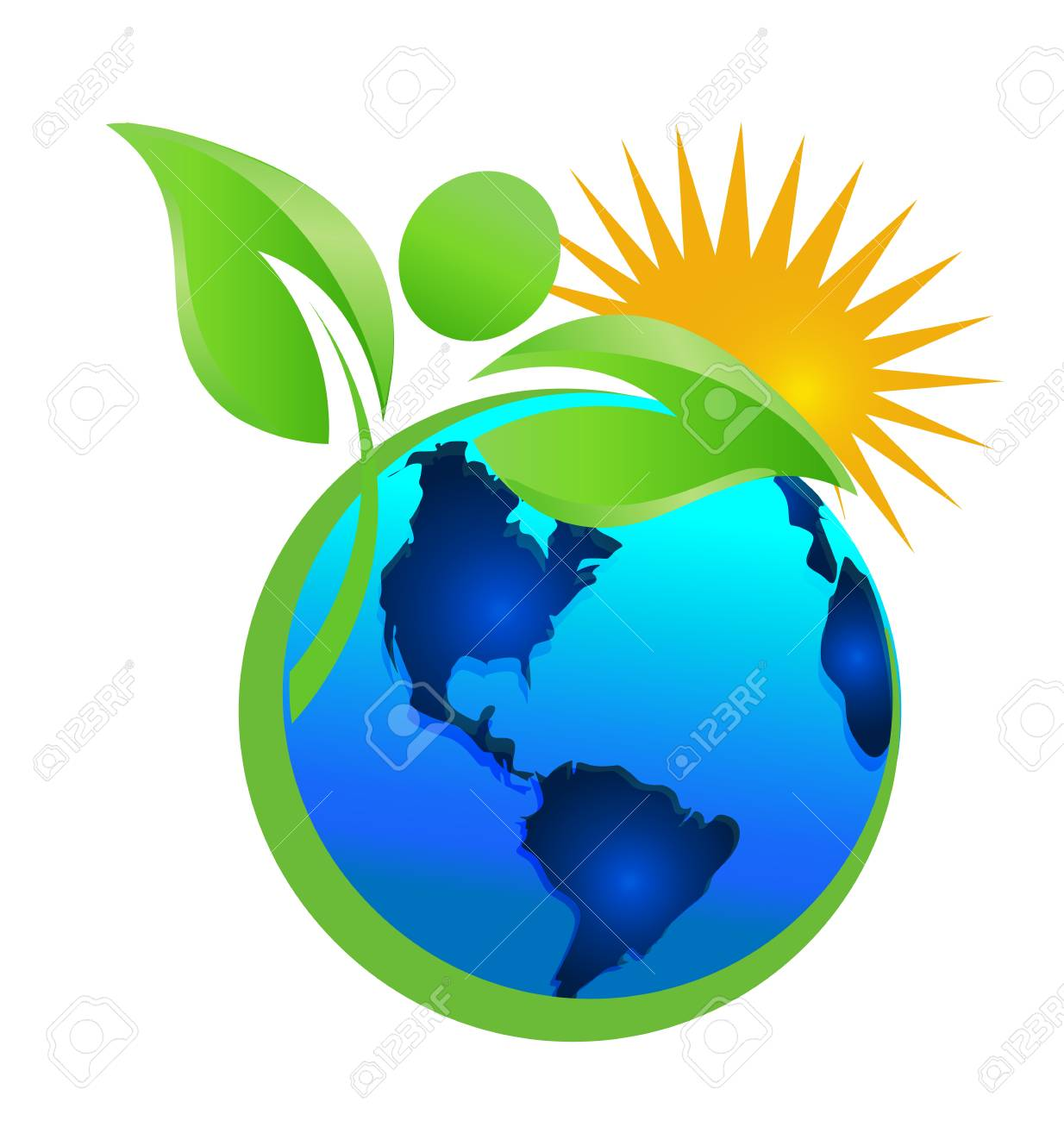 Cleaning the earth and the environment, mother nature, icon vector..