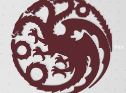 game of thrones dragon logo STL Files for 3D Printers.