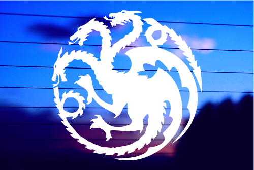 Targaryen Logo Game of Thrones House Mother of Dragons Decal Vinyl Sticker  Cars Trucks Vans Walls Laptop.