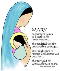 Holy Mary Mother of God Clip Art.
