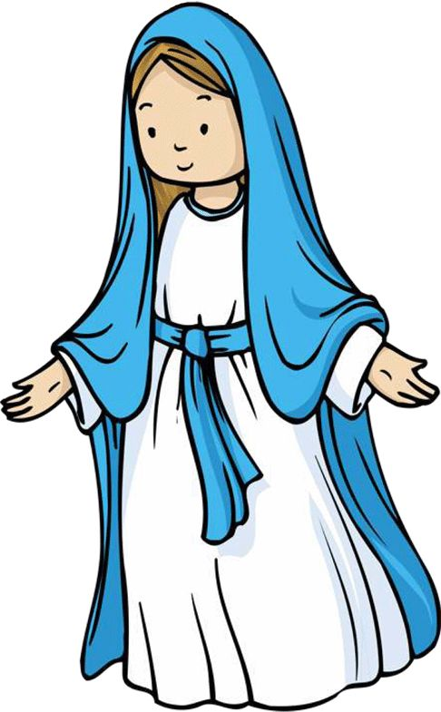 Mary jesus mother clipart.