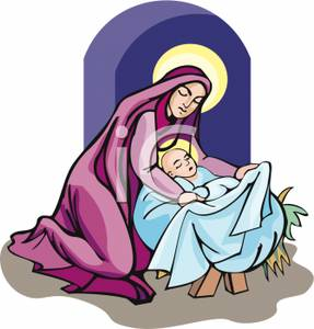 Mary mother of jesus clipart.