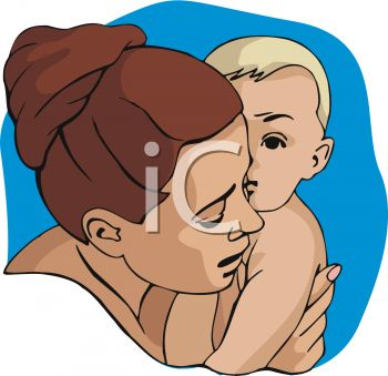 Mother and Baby, Mother's Day Clipart.