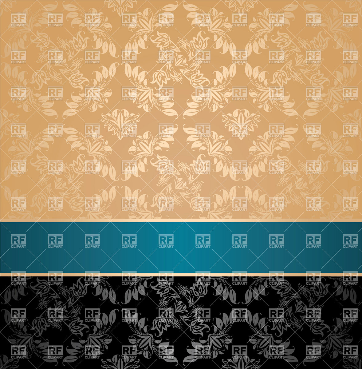 Beige and black mother of pearl victorian wallpaper Vector Image.