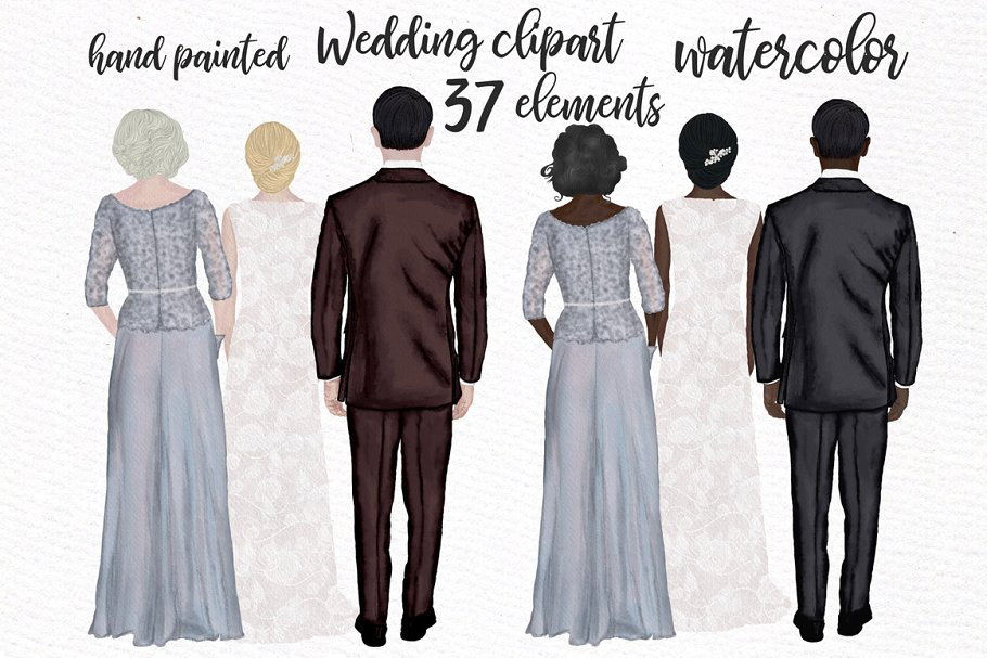 Wedding clipart Mother of the bride ~ Illustrations.
