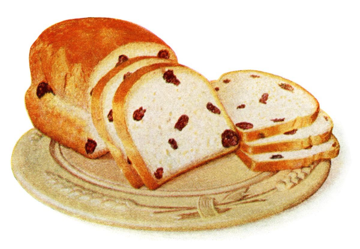 Homemade Loaf of Raisin Bread.