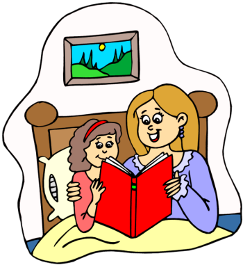Mother And Child Reading Clipart.