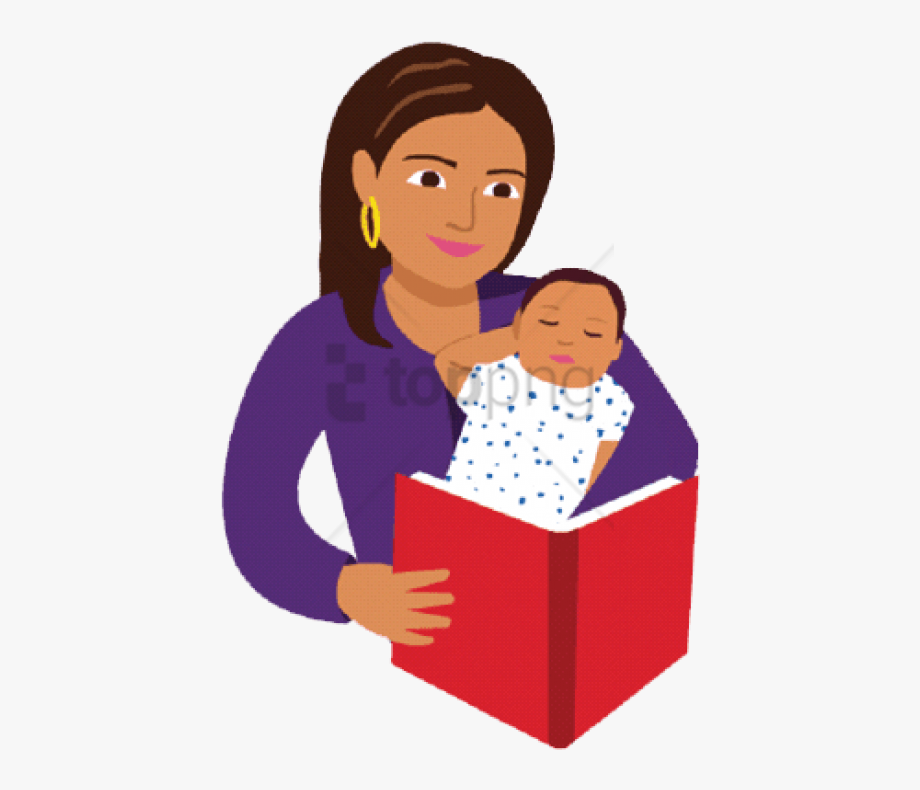Child Reading Clipart Baby.