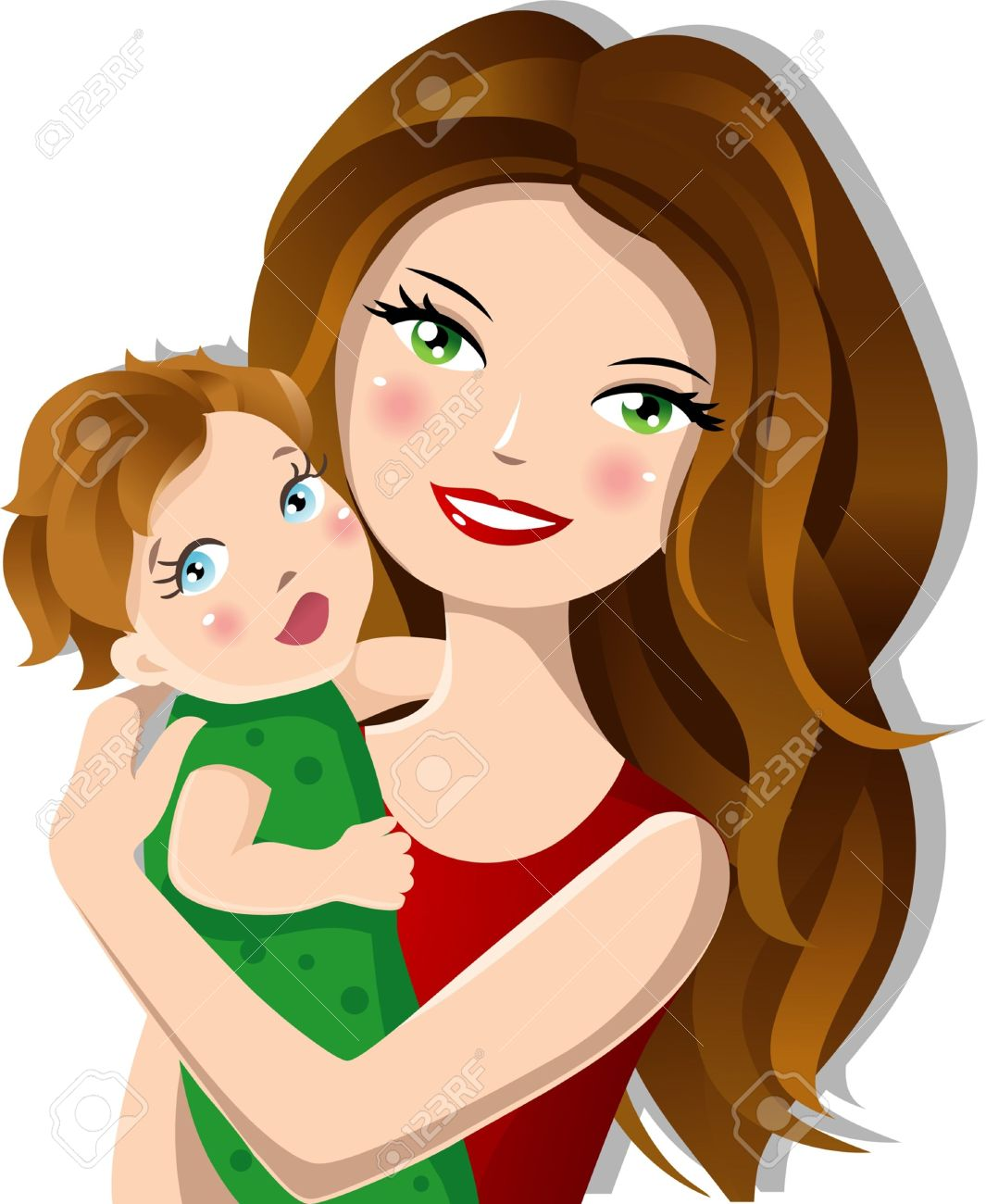 Mother With Baby Hd Clipart.