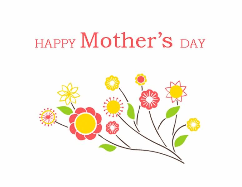Mothers day happy mother clipart.