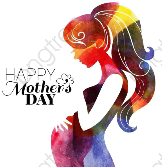 Mother\'s Day Clipart Color.