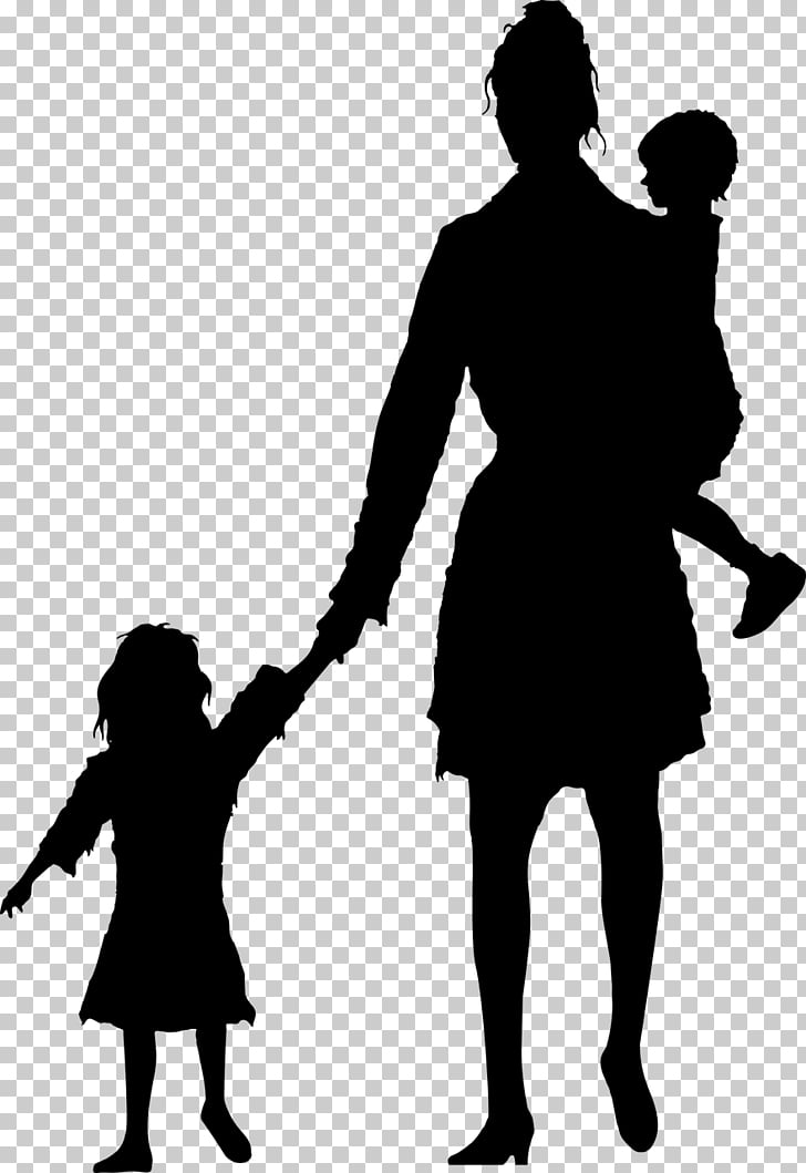 Mother Silhouette Child Stock photography, people PNG.