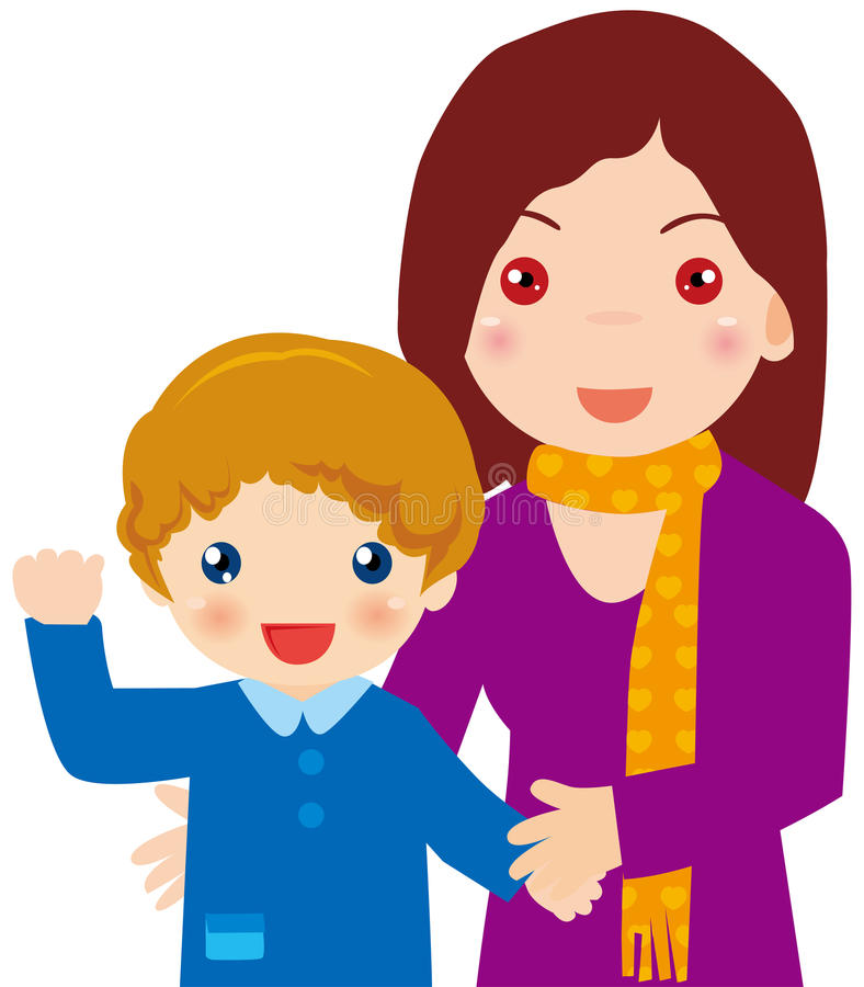 Mother Son Stock Illustrations.