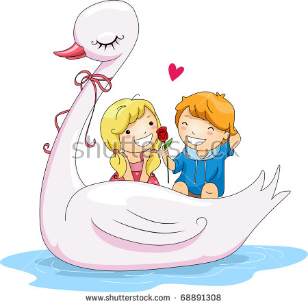 Swan Cartoon Stock Images, Royalty.