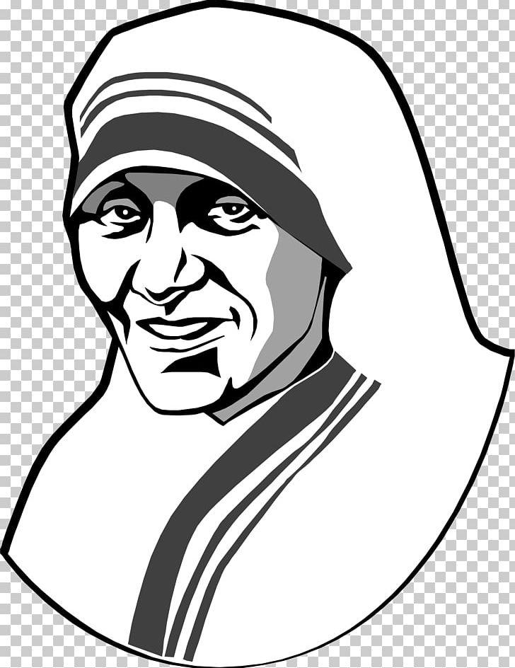 Mother Teresa Drawing PNG, Clipart, Arm, Artwork, Black.