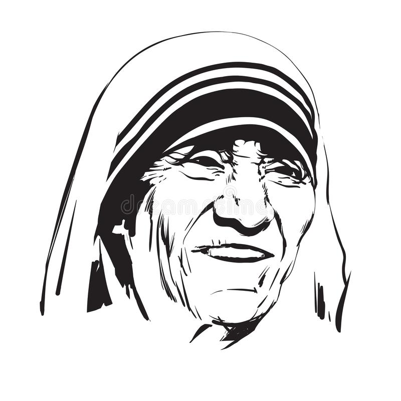 Mother Teresa Stock Illustrations.