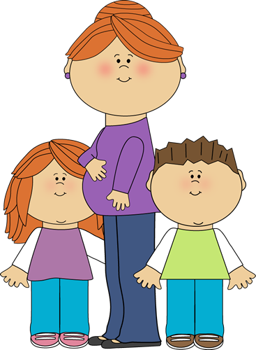 Mother And Kid Clipart.