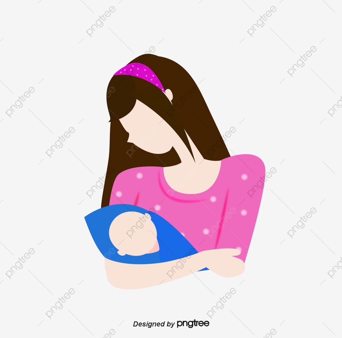 Vector Motherhood, Baby Products Logo, Illustration, Baby.