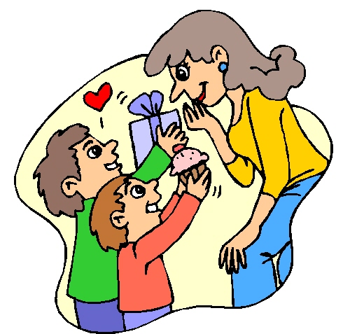 Mothers day ideas of what to do with your mother clipart.