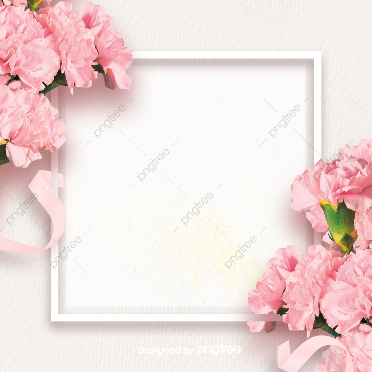 Simple Pink Carnation Mothers Day Background, Silk.