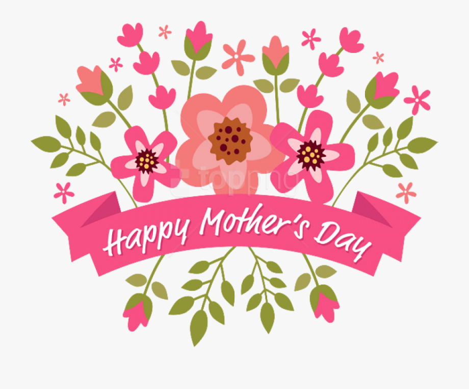 Happy Mothers Day Clipart Banner Png.