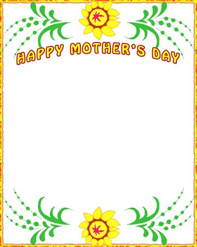 Mother's Day Borders.