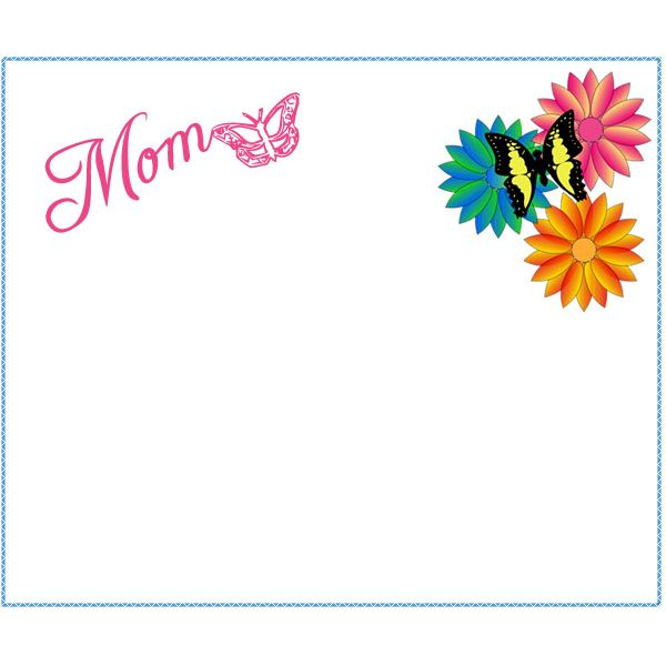 6 Free Mother's Day Borders for Cards, Scrapbooks and Other.