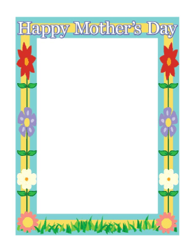 Mothers Day Border.
